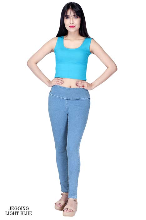 VIRAL JEGGING 01-CLOUD WASH-WOMEN DENIM JEGGING
