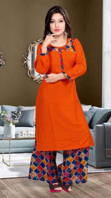 SMC BLESS 01-D NO 3 WMN KURTI WITH LONG JACKET