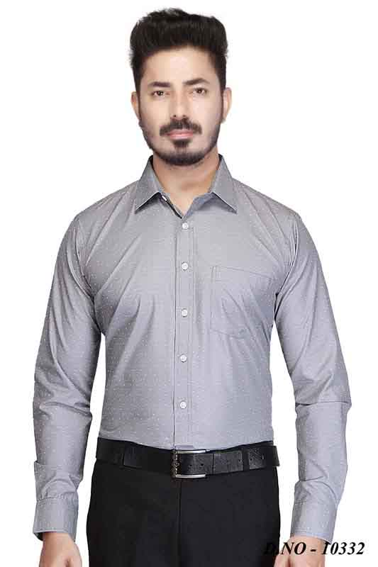 WF NEW 01-GRAY FORMAL SHIRT