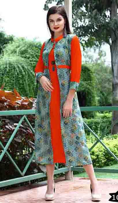 SMC BLESS 01-D NO 5 WMN KURTI WITH LONG JACKET