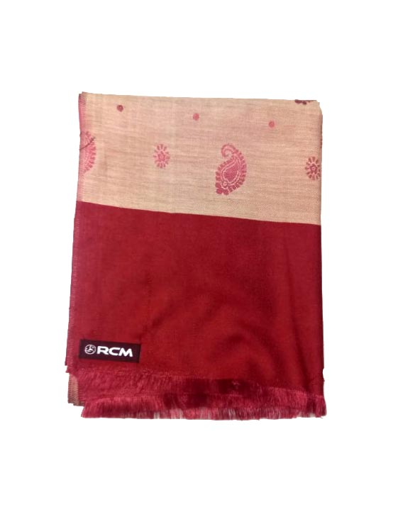 WOMEN SHAWL-RED-WSWL 108 D NO 4