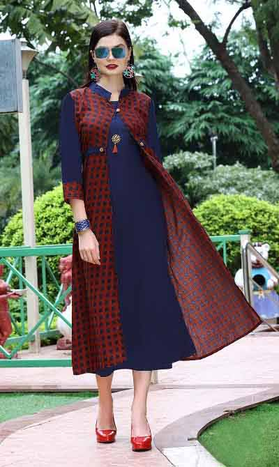 SMC BLESS 01-D NO 9 WMN KURTI WITH LONG JACKET