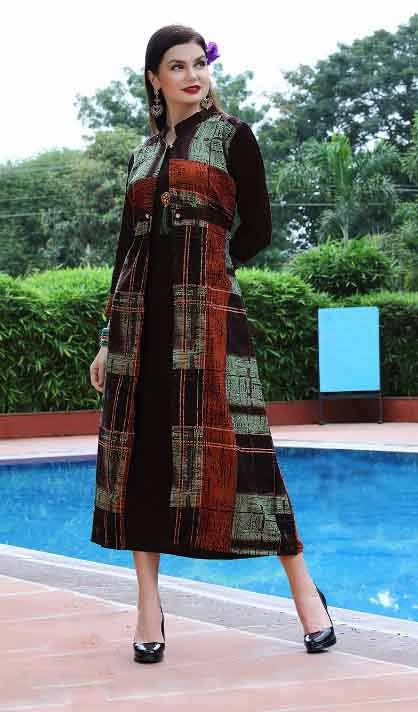 SMC BLESS 01-D NO 10 WMN KURTI WITH LONG JACKET