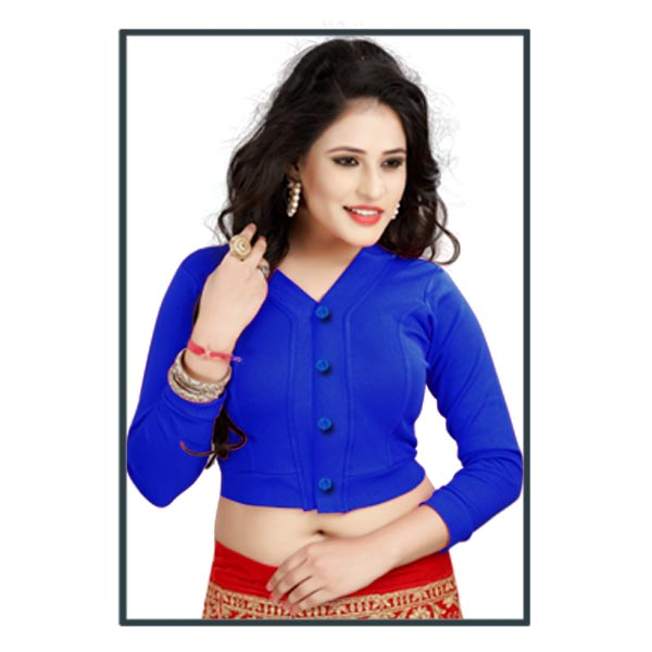 FANCY HC 118-ROYAL BLUE WMN READYMADE FANCY BLOUSE