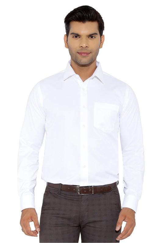 WHITE STRIPE CHECK-WHITE FORMAL SHIRT