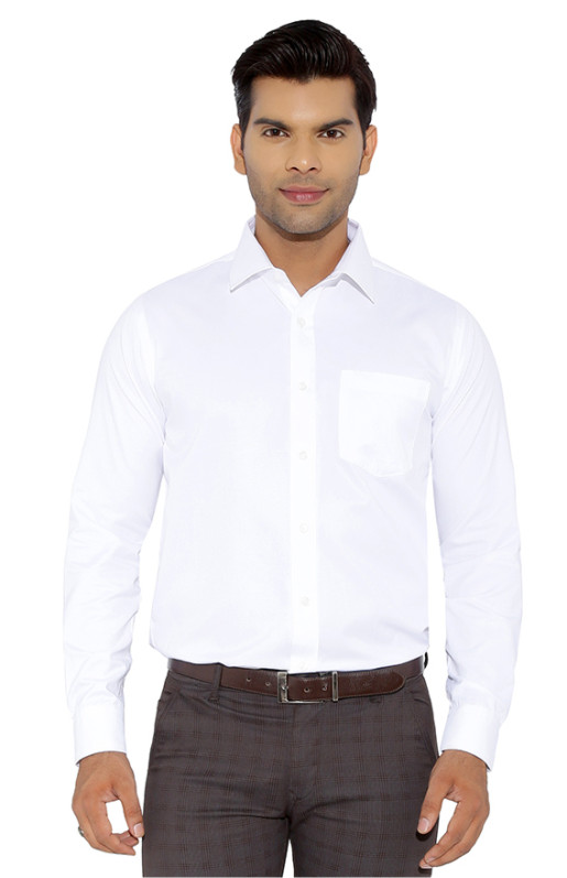 FSPL WHITE NEW -WHITE FORMAL SHIRT WITHOUT LOGO