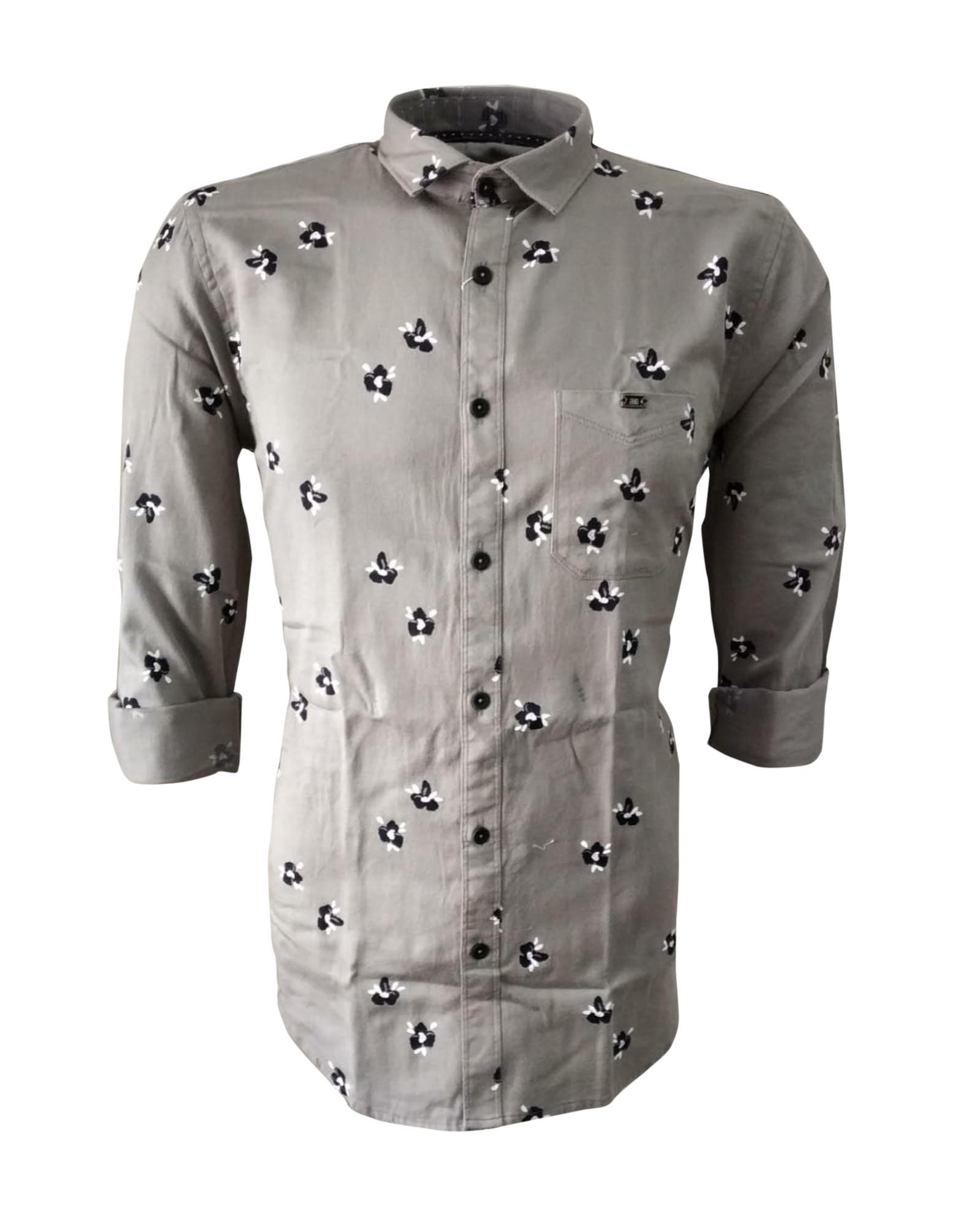 NC FEB J 722 2020-GRAY MENS CASUAL SHIRT