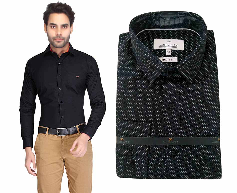 TA 026-BLACK FORMAL SHIRT