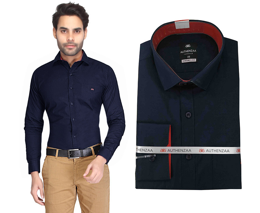 BT RAPIER 03-NAVY BLUE FORMAL SHIRT