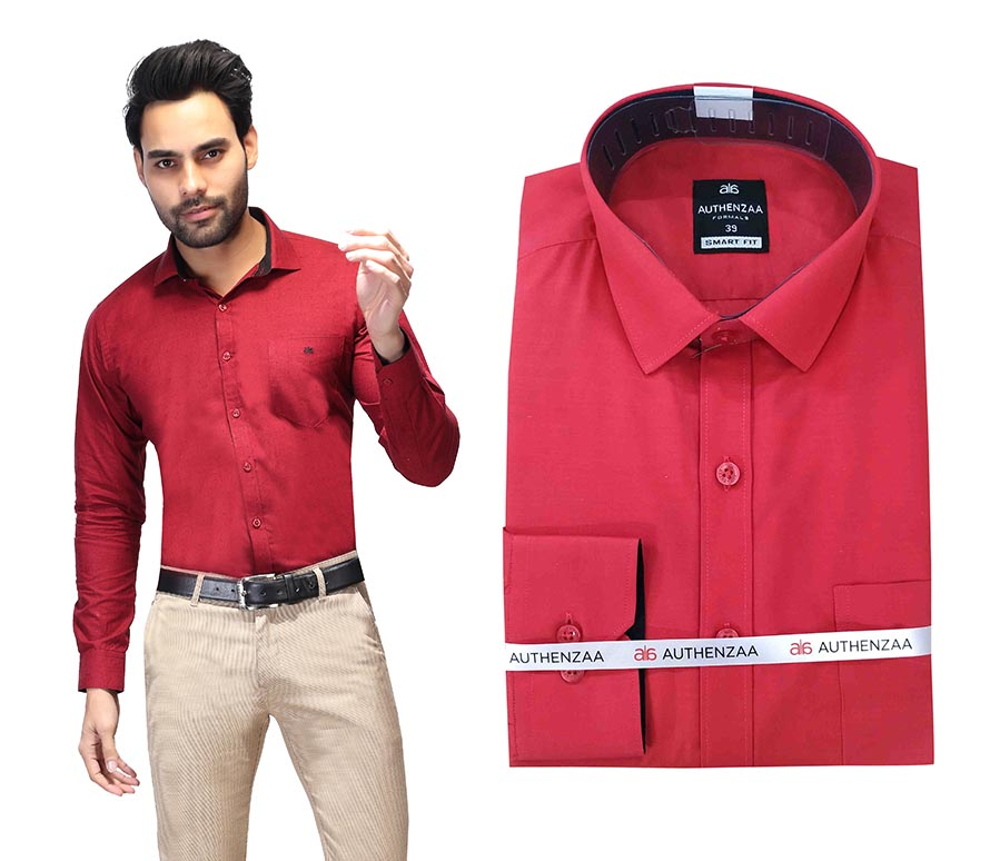 BT RAPIER 03-RED FORMAL SHIRT
