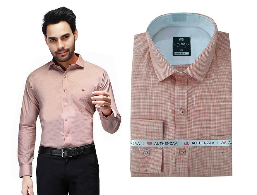 BT MAN TEX 02-ORANGE FORMAL SHIRT