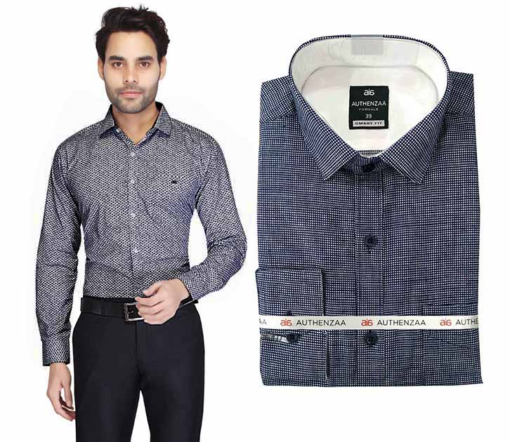BT MAN TEX 02-BLUE FORMAL SHIRT