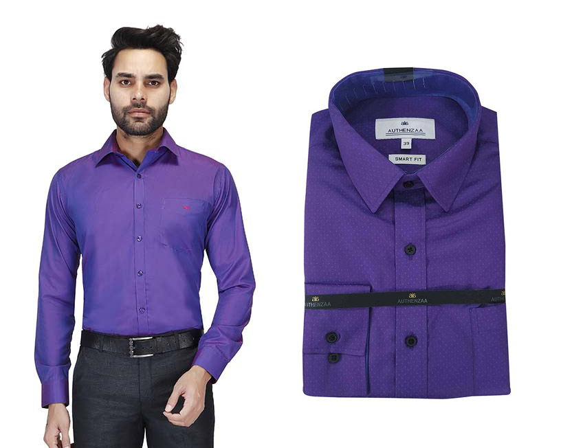 TA 1001 01-PURPLE FORMAL SHIRT