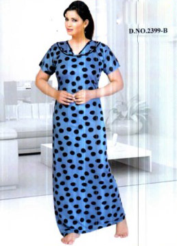 WMN VISCOSE PRINT NIGHTY -BLUE-KC MAY 2399