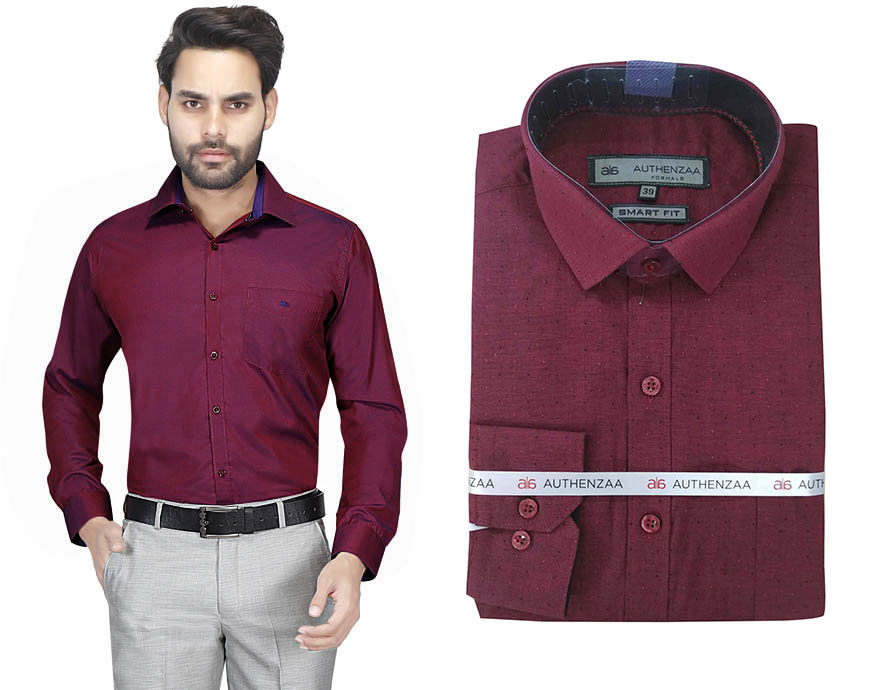 BT RAPIER 04-MAROON FORMAL SHIRT