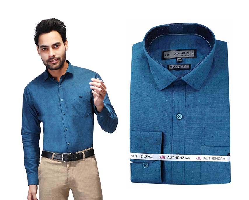 BT RAPIER 04-BLUE FORMAL SHIRT