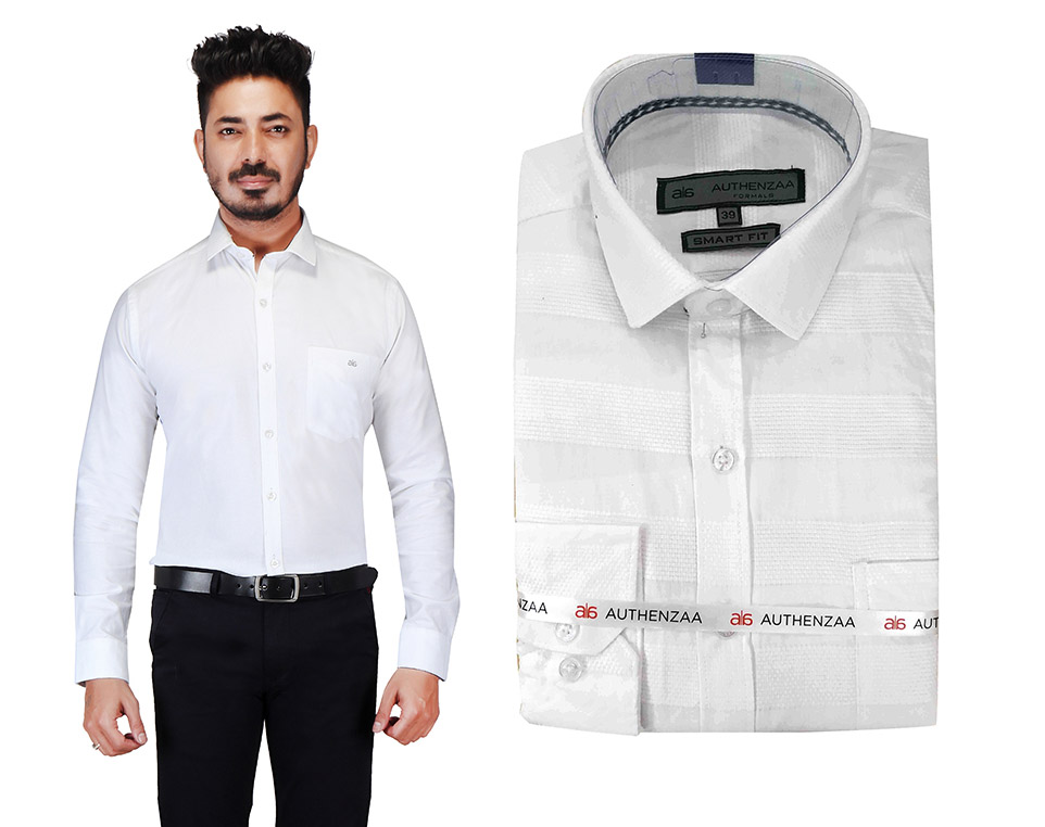 BT MAAN TEX 03-WHITE FORMAL SHIRT
