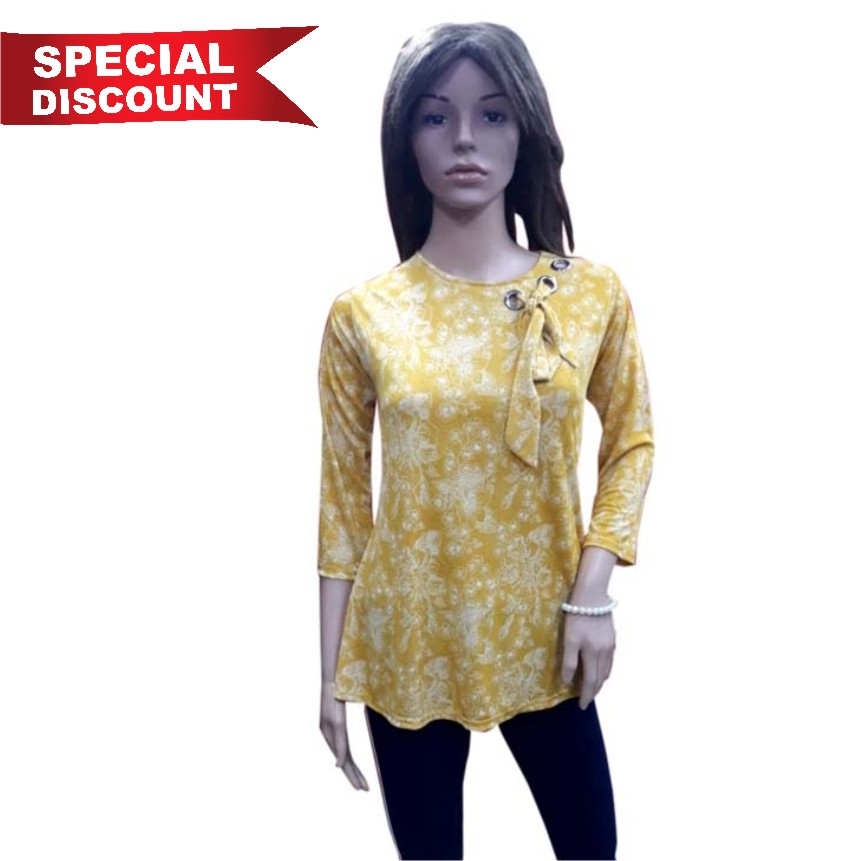 WOMEN TOP-YELLOW-HT FANCY TOP 01