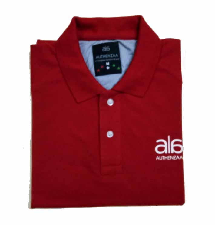 AI CS 127-RED POLO T SHIRT