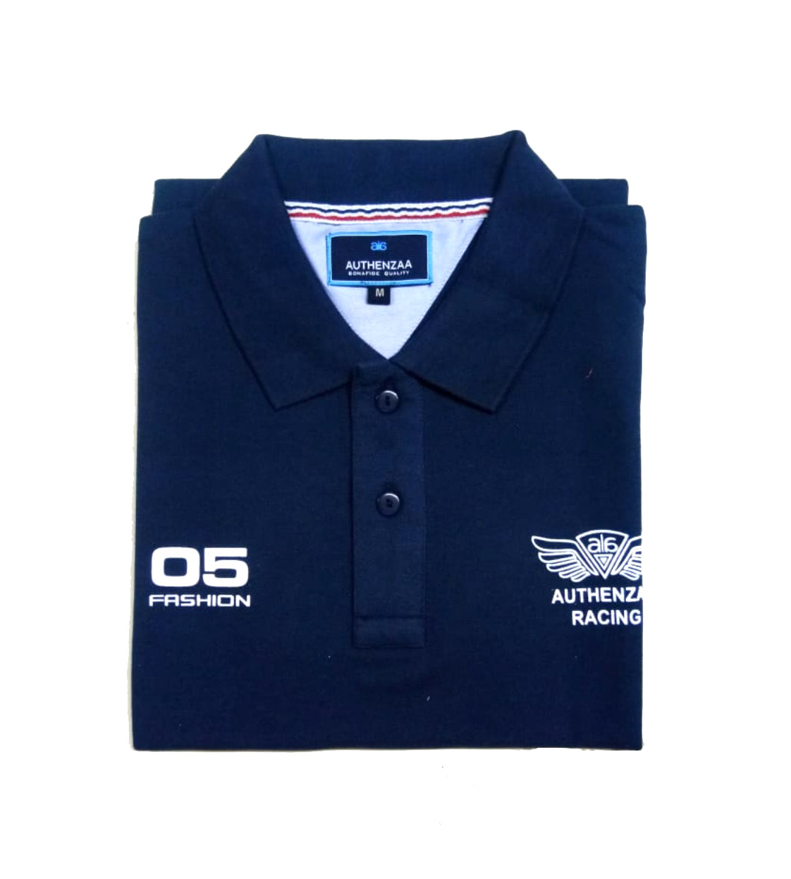 AI CS 128-NAVY POLO T SHIRT