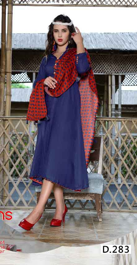 SMC RAJWADI 01-D NO 3 STYLISH WOMEN KURTY