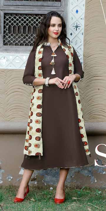 SMC RAJWADI 01-D NO 5 STYLISH WOMEN KURTY