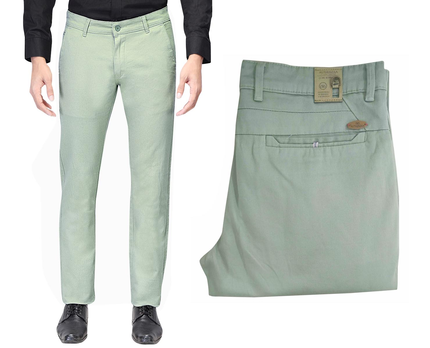 UTD 1008-1-GREEN CASUAL TROUSER