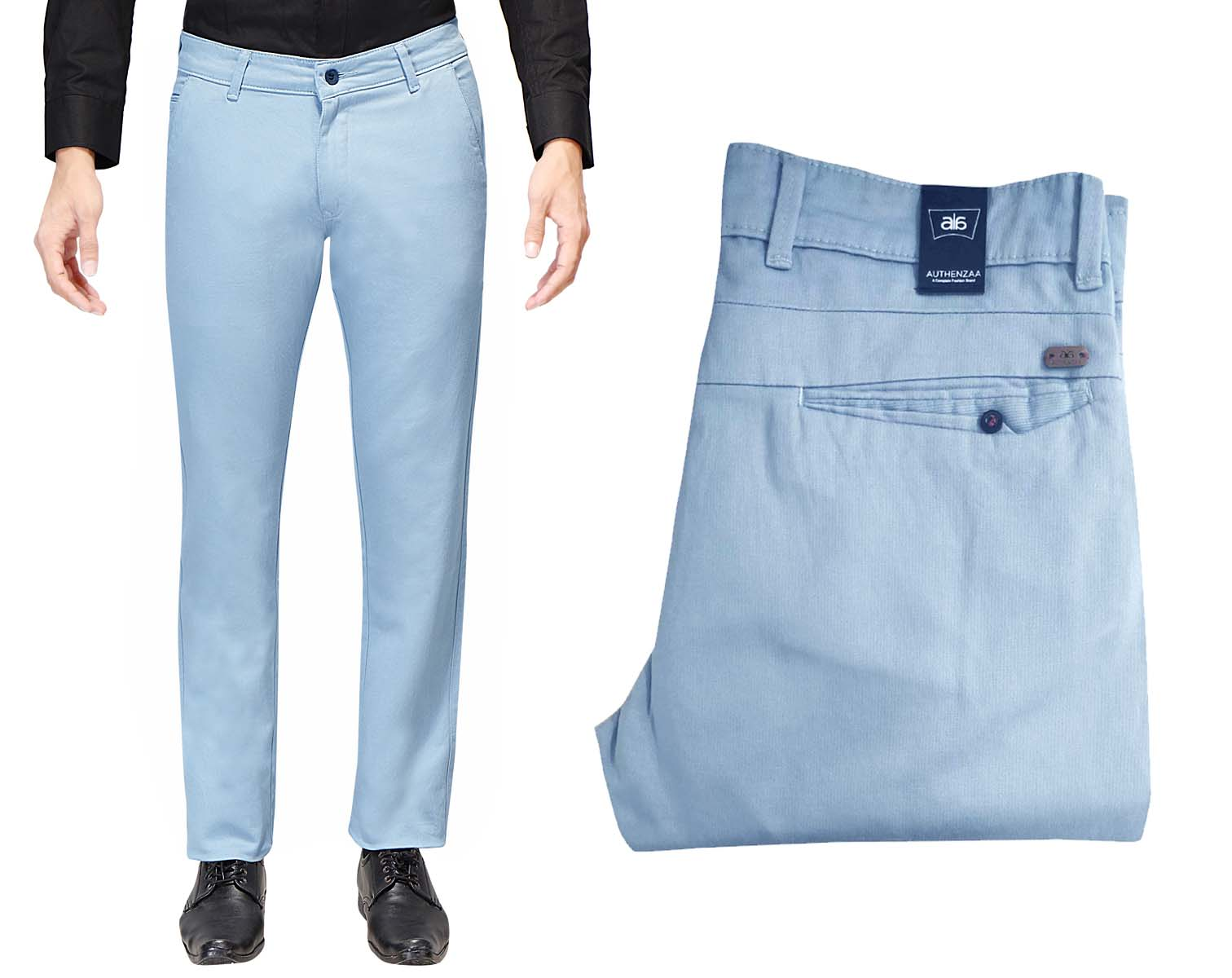 UTD 1008-2-SKY BLUE CASUAL TROUSER