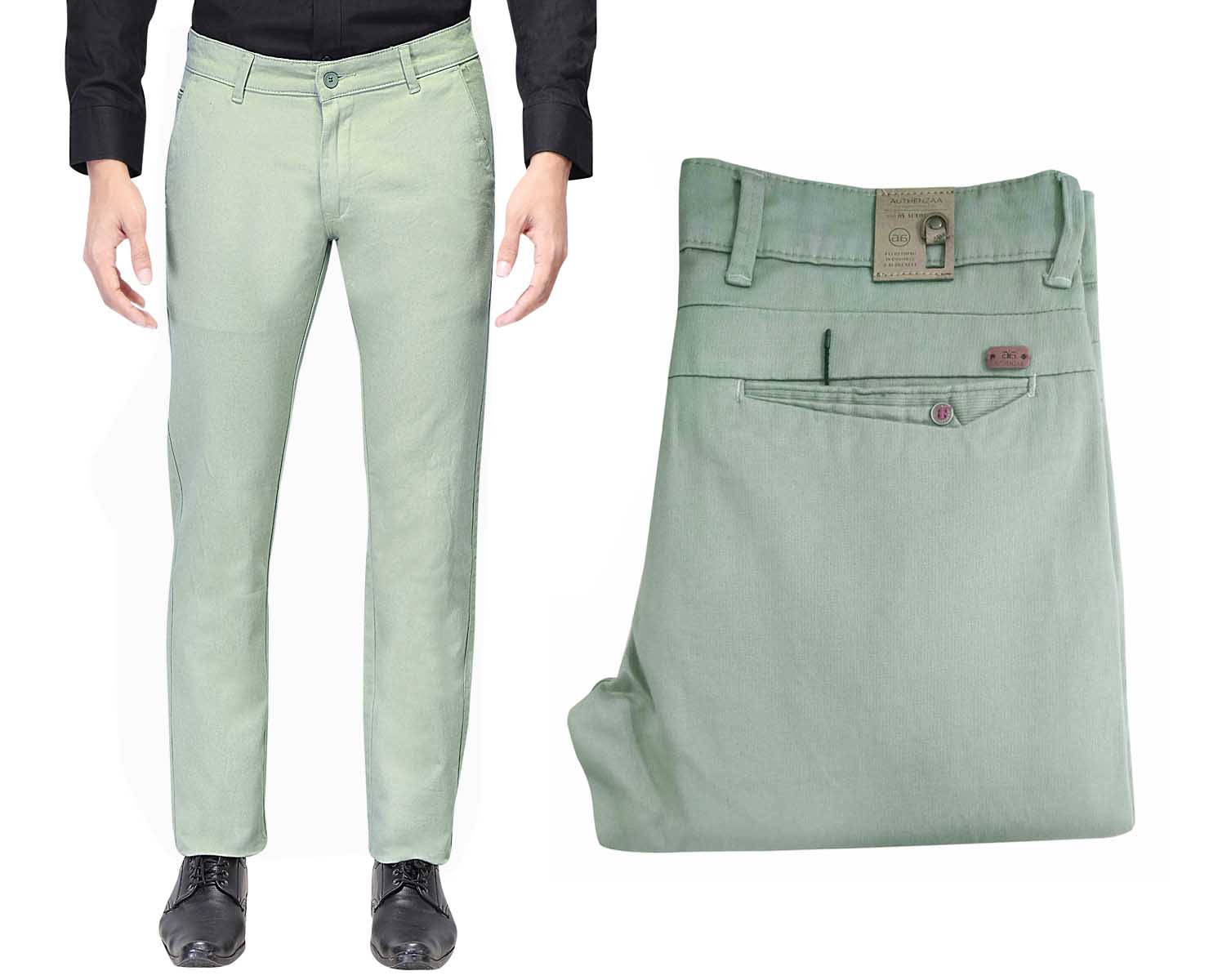 UTD 1008-2-GREEN CASUAL TROUSER