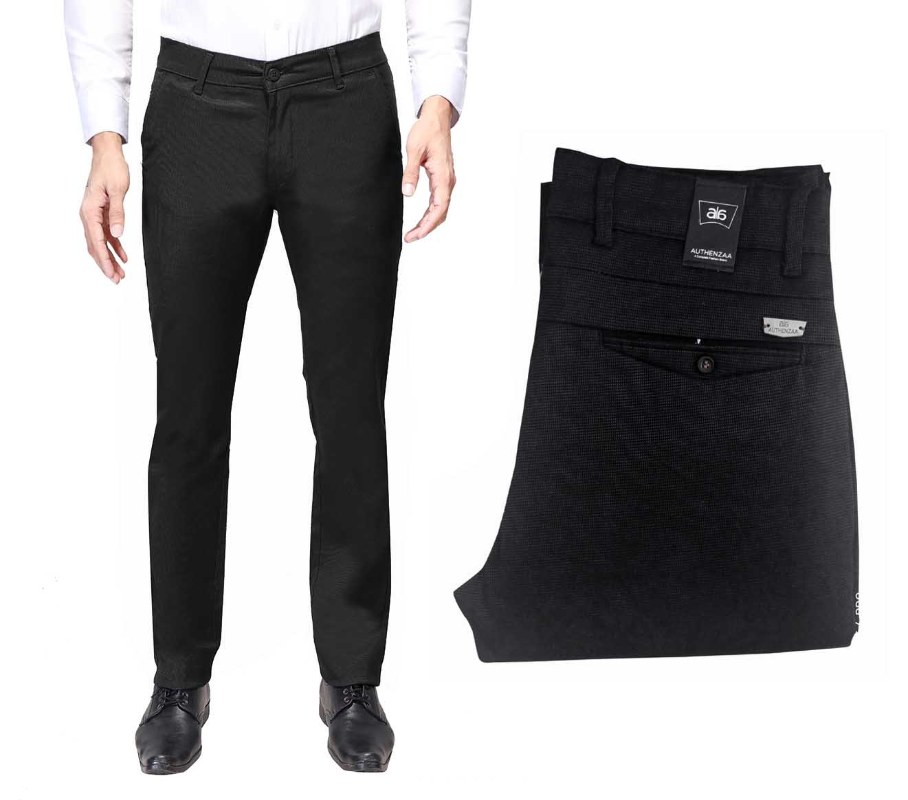 UTD D 1174-BLACK CASUAL TROUSER