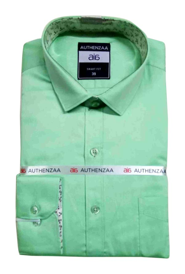 BT SEASON FEB 01-PARROT GREEN FORMAL SHIRT