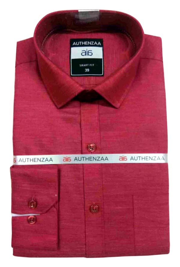 BT MAAN FEB 01-RED FORMAL SHIRT