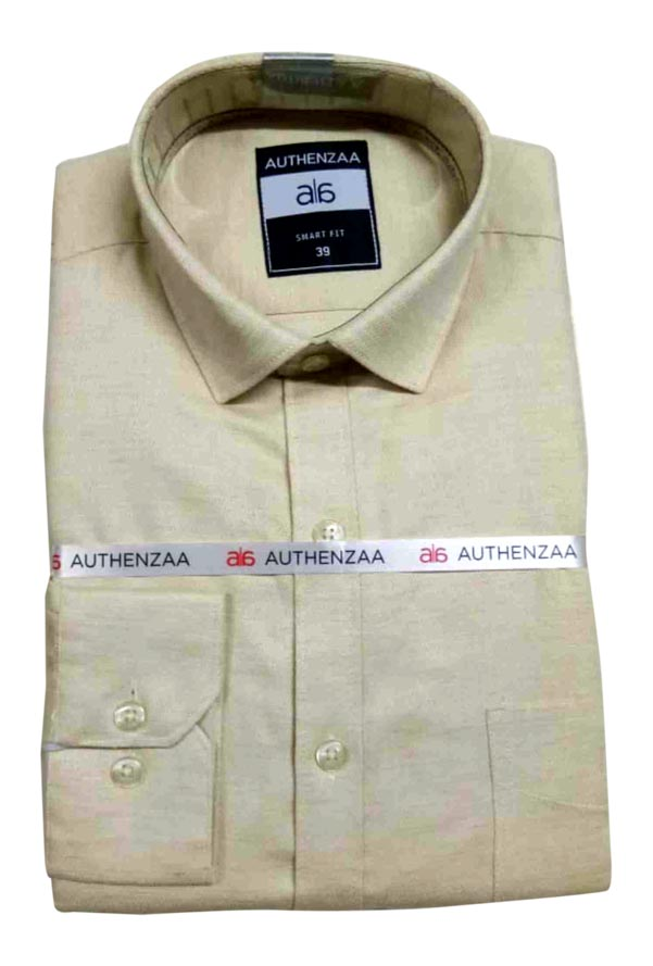 BT MAAN FEB 01-BEIGE FORMAL SHIRT