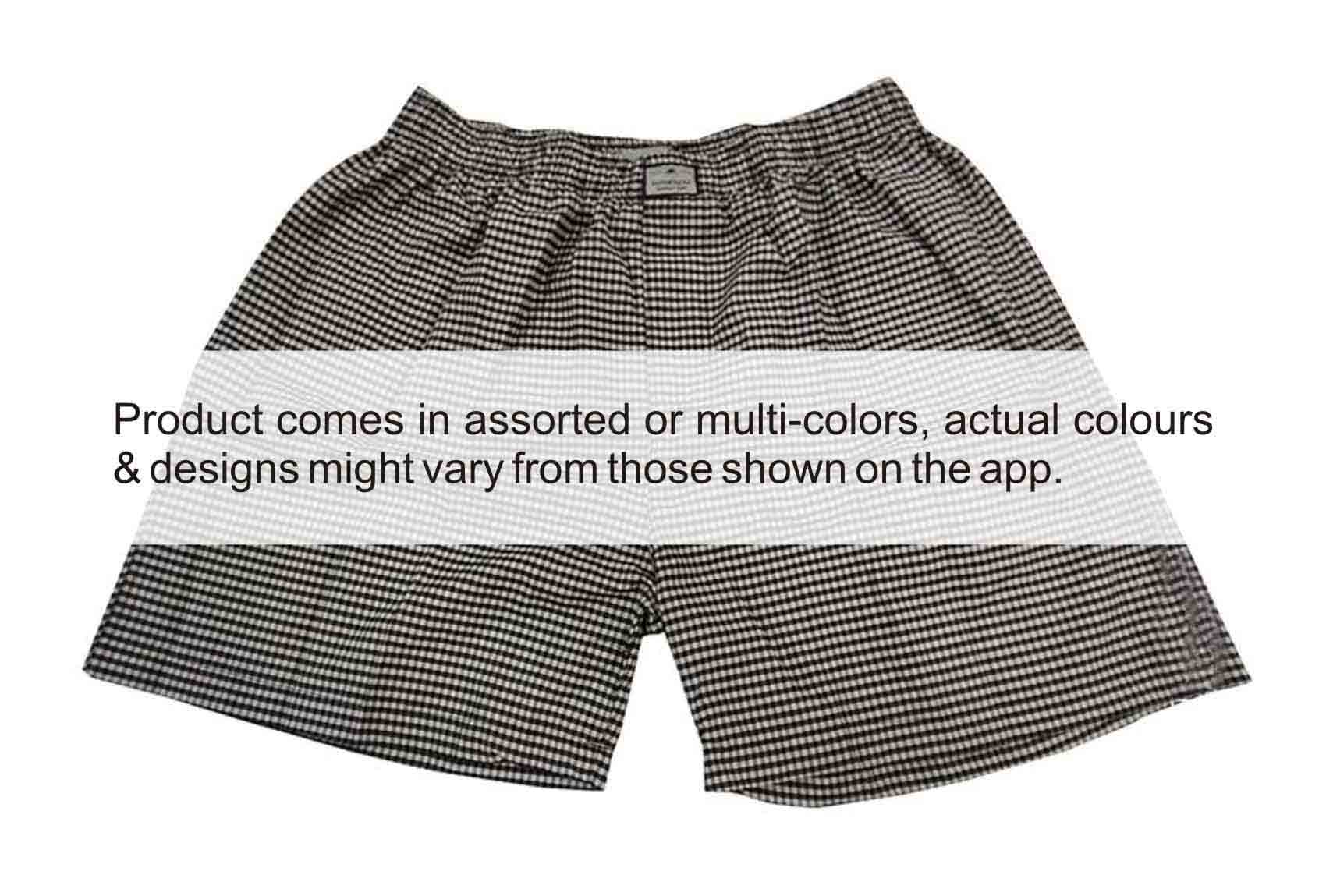 UC APL CHECKS 02-MIX-MENS BOXER SHORT