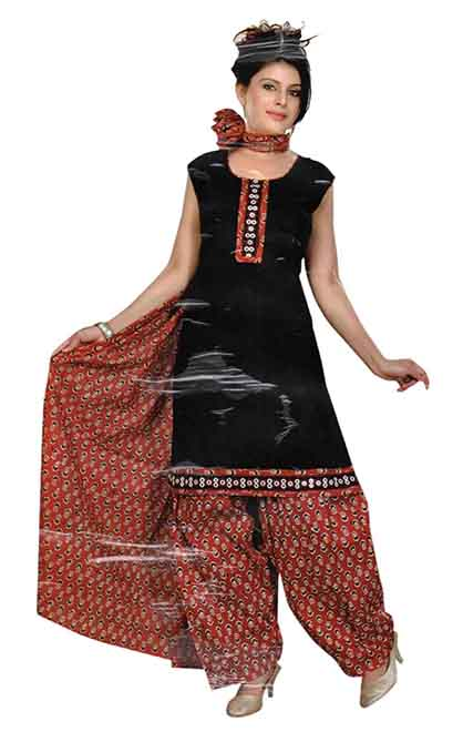 SC 3 PIC SET-BLACK 3 PIC SET STYLISH KURTI