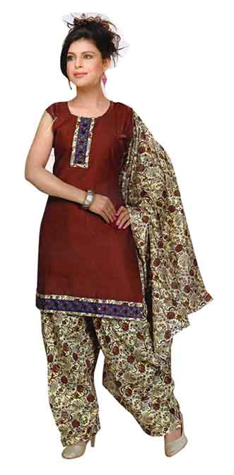 SC 3 PIC SET-MAHROON  3 PIC SET STYLISH KURTI