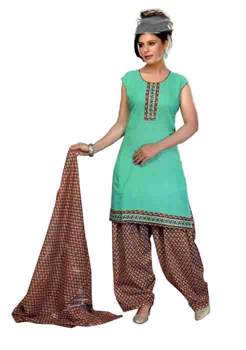 SC 3 PIC SET-SEA GREEN 3 PIC SET STYLISH KURTI