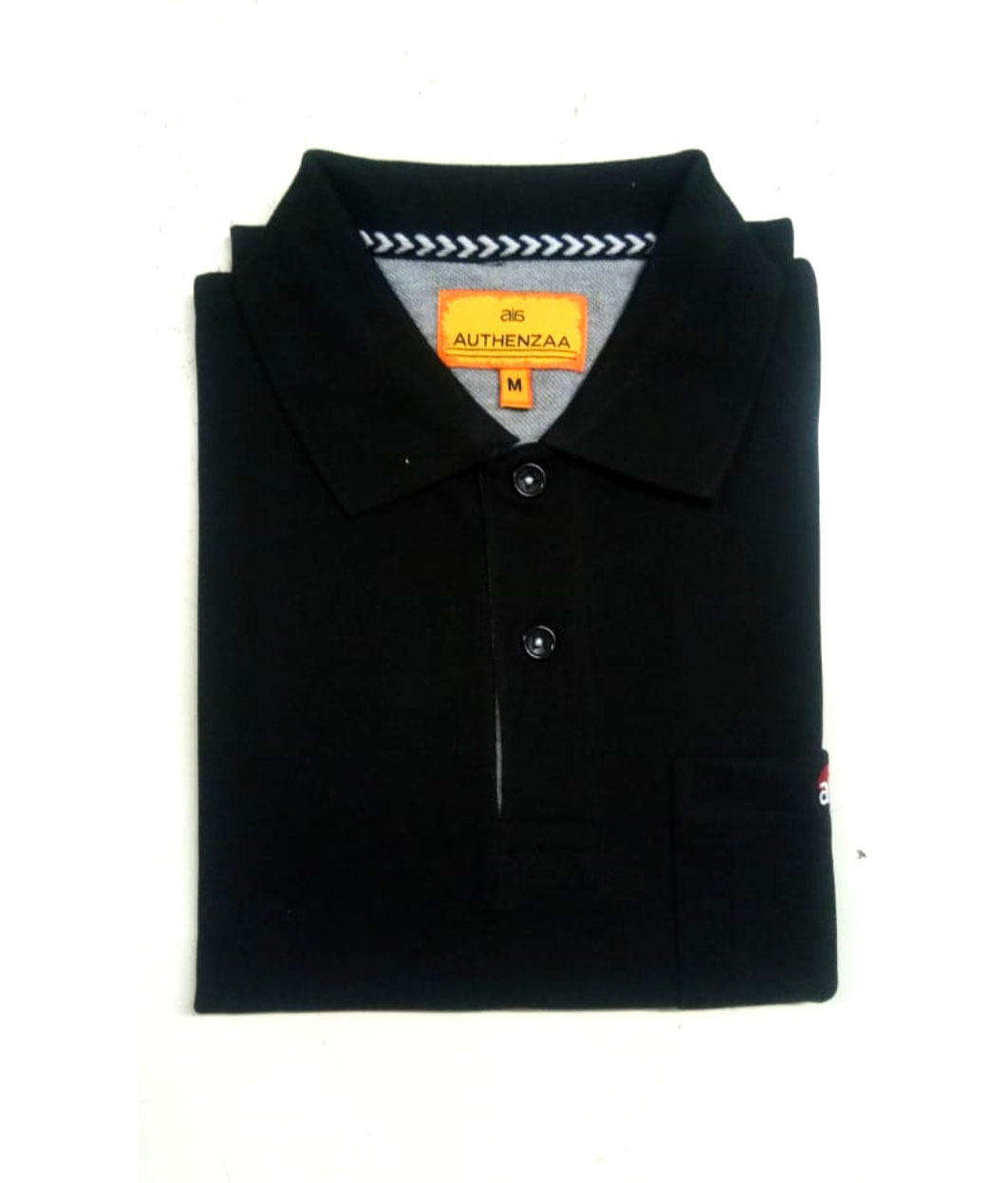 RPT APL 395-BLACK POLO T SHIRT