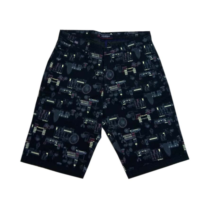 UTD PRINT WHEEL-NAVY BLUE-MN SHORTS