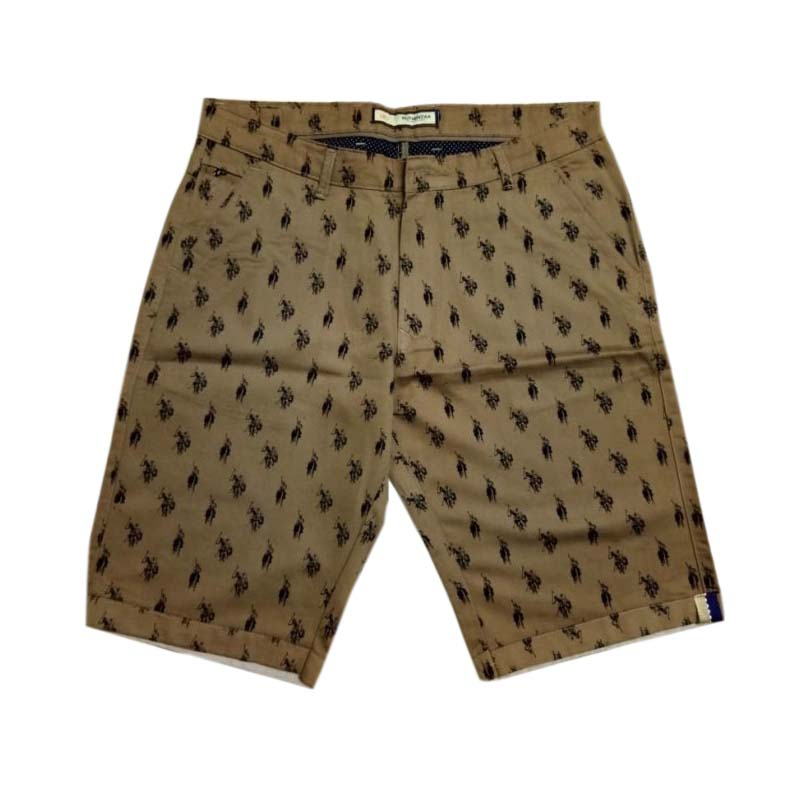 UTD PRINT POLO-BROWN-MN SHORTS
