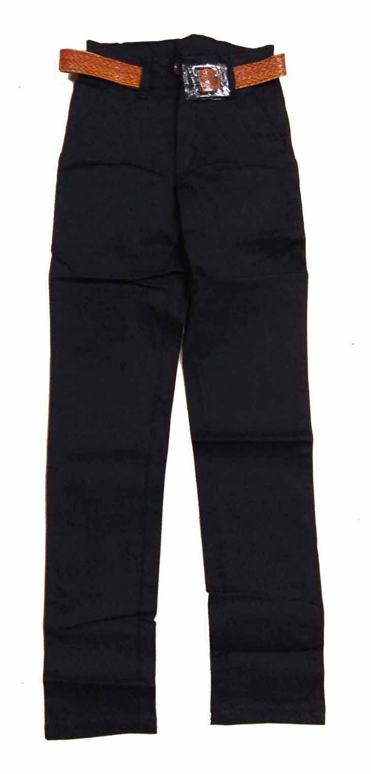 AVT D NO 2064 CORD BIG-BLACK-KIDS TROUSERS