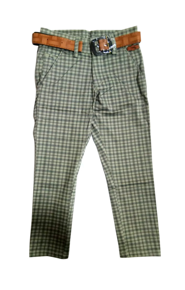 AVT D NO 261 CHX SMALL-GREEN-KIDS TROUSERS