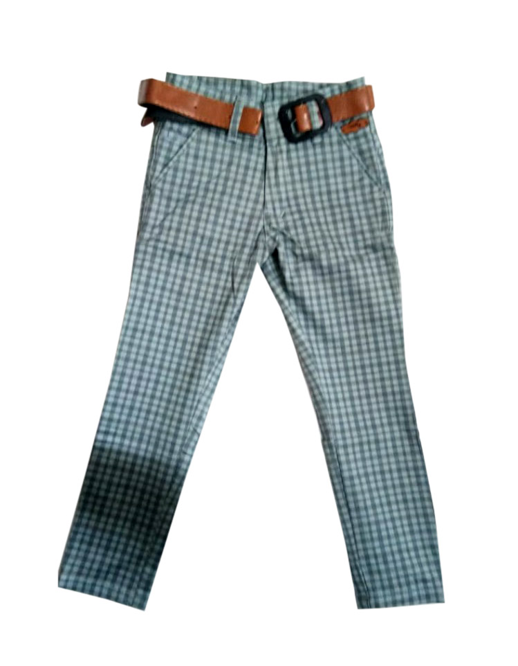 AVT D NO 261 CHX SMALL-GRAY-KIDS TROUSERS