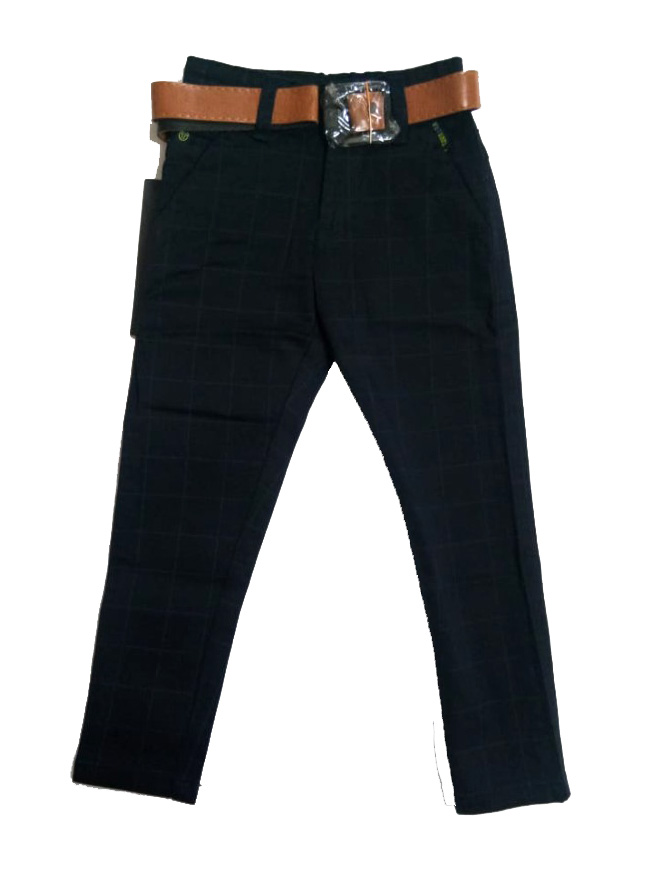 AVT D NO 2077 CHX SMALL-NAVY-KIDS TROUSERS