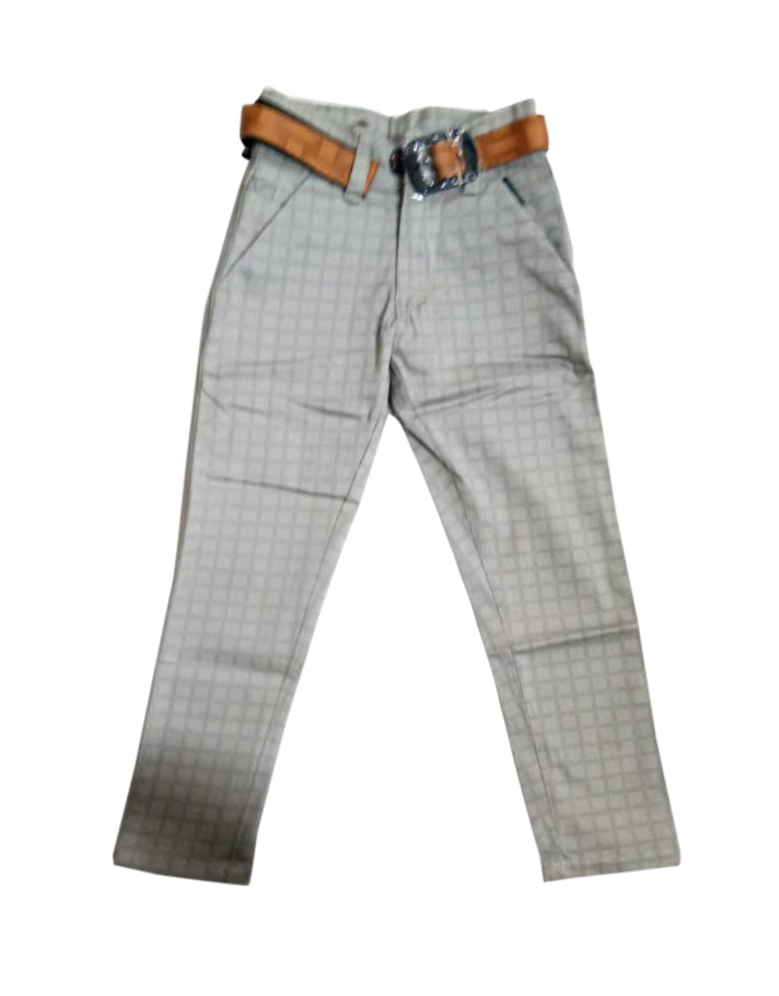 AVT D NO 261 CHX BIG-GRAY-KIDS TROUSERS