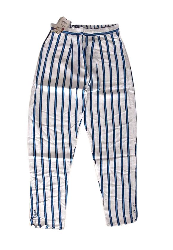 SOMAYA D NO 6-WHITE BLUE WMN PANT
