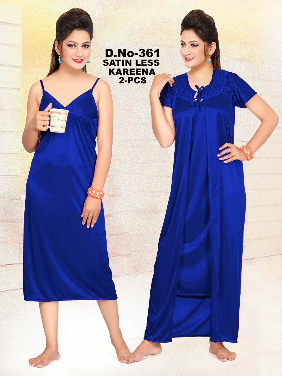 SATIN TWO PIECE NIGHTY-BLUE-KC MAY 361