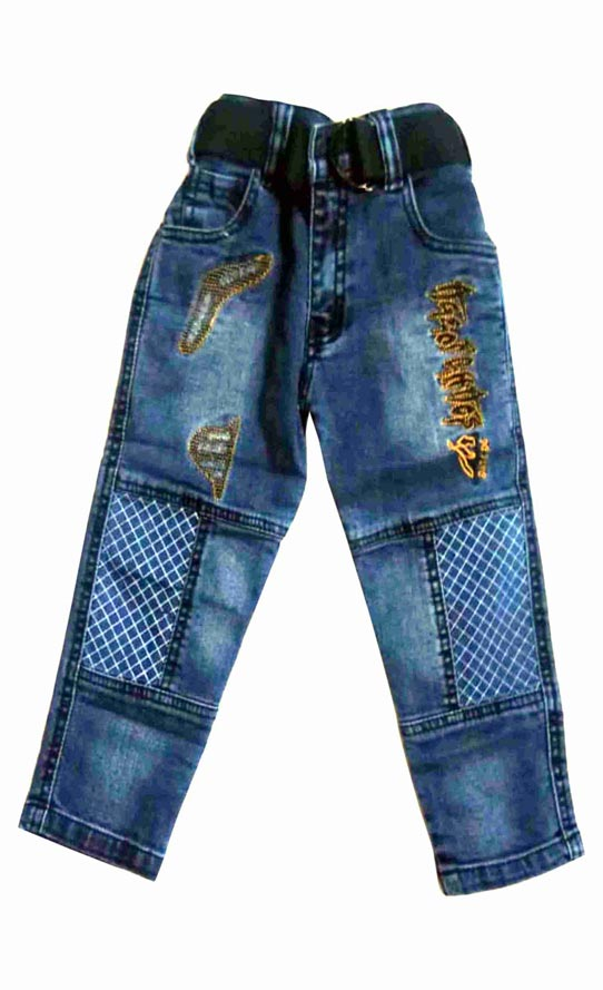 KJ DENIM 001-DARK BLUE-KIDS DENIM JEANS