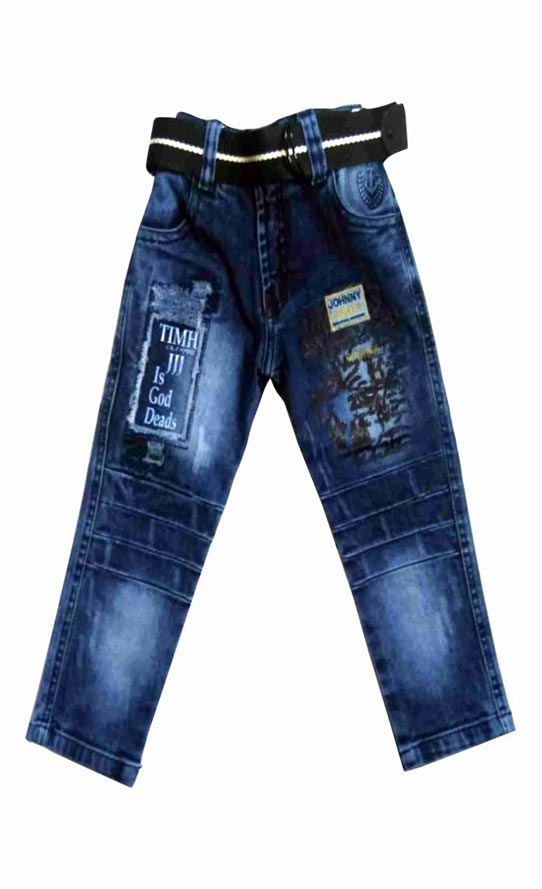 KJ DENIM 007-BLUE-KIDS DENIM JEANS