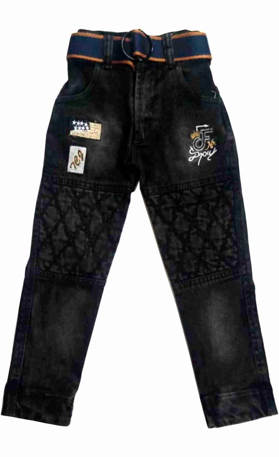KJ DNEIM 008-BLACK-KIDS DENIM JEANS